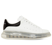 45MM AIR SOLE PLATFORM LEATHER SNEAKERS