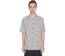 STRIPED VISCOSE SHORT SLEEVES SHIRT