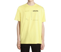 DRUGS PRINTED COTTON JERSEY T-SHIRT