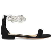 15MM SUEDE FLAT SANDALS
