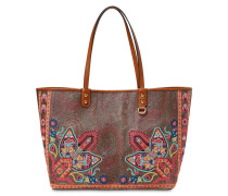 PRINTED LEATHER TOTE BAG