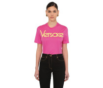 EMBROIDERED 80'S LOGO JERSEY T-SHIRT