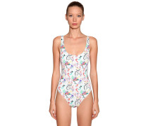 PRINTED LYCRA ONE PIECE SWIMSUIT