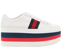 55MM HOHE PLATEAUSNEAKERS AUS LEDER 'PEGGY'