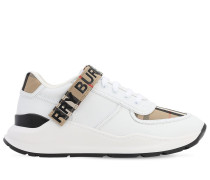 CHECK LEATHER LOW-TOP RONNIE SNEAKERS