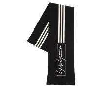 Y-3 3 STRIPES COTTON BLEND KNIT SCARF