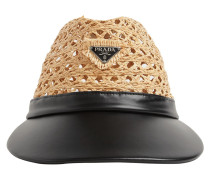 RAFFIA & LEATHER HAT