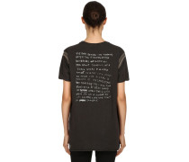 T-SHIRT AUS JERSEY 'AMBIGUOUS BACK TO BLACK'