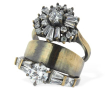 STACKED RING W/ ZIRCON