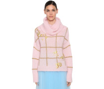 EMBROIDERED MOHAIR BLEND PULLOVER