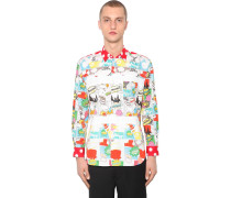 POP PRINTED COTTON POPLIN SHIRT