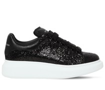 40MM GLITTER & LEATHER SNEAKERS