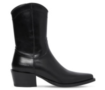 50MM ARIZONA LEATHER CROPPED BOOTS