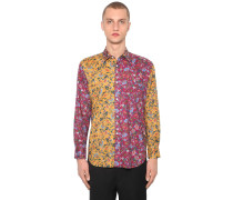 FLORAL PRINT COTTON POPLIN SHIRT