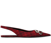 10MM BB PLAID SLINGBACK FLATS