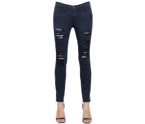 JEANS AUS STRETCH-DENIM MIT RISSEN 'LE COLOR'