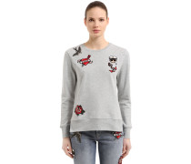 SWEATSHIRT AUS BAUMWOLLE MIT CAPTAIN KARL-PATCHES