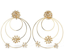 ARCADIA BIG MULTI HOOP CRYSTAL EARRINGS