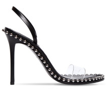 105MM NOVA LEATHER & PVC STUDDED SANDALS