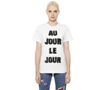 VERZIERTES T-SHIRT 'AU JOUR LE JOUR'