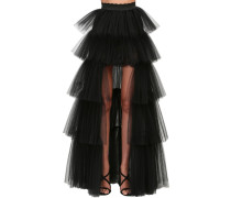 LAYERED TULLE HIGH-LOW SKIRT