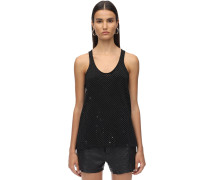 EMBELLISHED MERINO WOOL KNIT TANK TOP