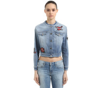 DENIMJACKE MIT CAPTAIN KARL-PATCH