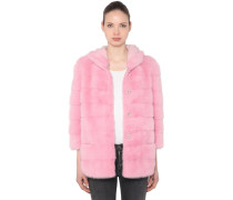 TULIPANO HOODED MINK FUR COAT