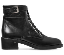 40MM SOLENE LEATHER LACE-UP BOOTS