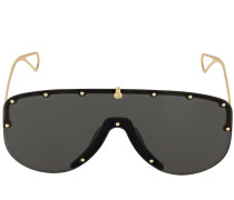 STUDDED METAL MASK SUNGLASSES