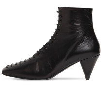 70MM LACE-UP LEATHER BOOTS