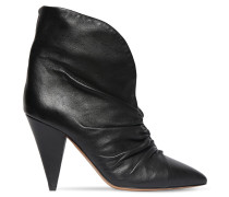 90MM LASTEEN LEATHER ANKLE BOOTS