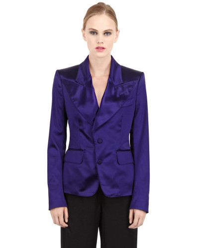 SHINY SCHWERE STRETCH SATIN JACKE
