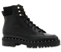 30MM SOUL ROCKSTUD LEATHER ANKLE BOOTS