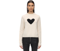 HEART CASHMERE KNIT PULLOVER