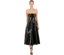 PATENT LEATHER BUSTIER DRESS