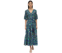 TEODORA FLORAL PRINT TECHNO CREPE DRESS