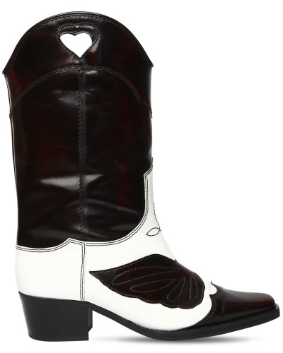 50MM MARLYN SHINY LEATHER COWBOY BOOTS