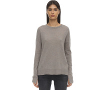 CASHMERE KNIT PULLOVER W/ELBOW PATCHES
