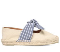 20MM PURA COTTON CANVAS BOW ESPADRILLES
