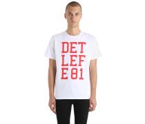 T-SHIRT AUS BAUMWOLLJERSEY MIT DRUCK 'DETLEF E81'