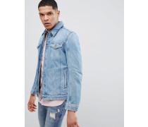 Jeansjacke mit Reißverschluss in Blau
