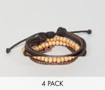 Armbänder zum Kombinieren im 4er Pack
