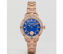 South Horizons S2905 - Armbanduhr mit Kristallen in Roségold 33 mm