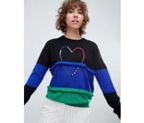 PS by Paul Smith - Mit Herzmotiv verzierter Pullover
