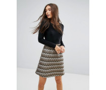 2-in-1-Kleid mit strukturiertem Rock
