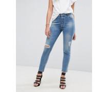 Bella - Schmal geschnittene Jeans mit Rissen und Distressed-Optik