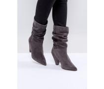 CIANNA - Weite Stiefel auf Wildleder mit keilförmigem Absatz