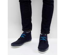 Cleon - Marineblaue Chukka-Stiefel aus Wildleder