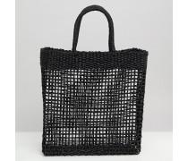 Gewebte Shopper-Tasche aus Stroh